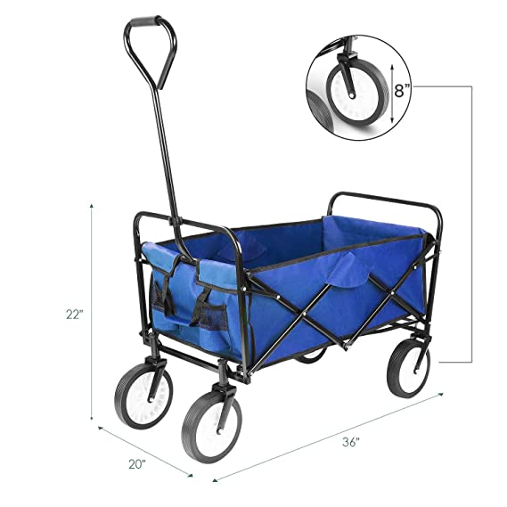Amazon.com: Hooseng - Carro plegable para la playa, Metal ...