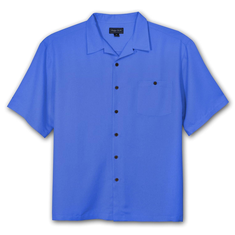 Indygo Smith Big and Tall Rayon Camp Shirt