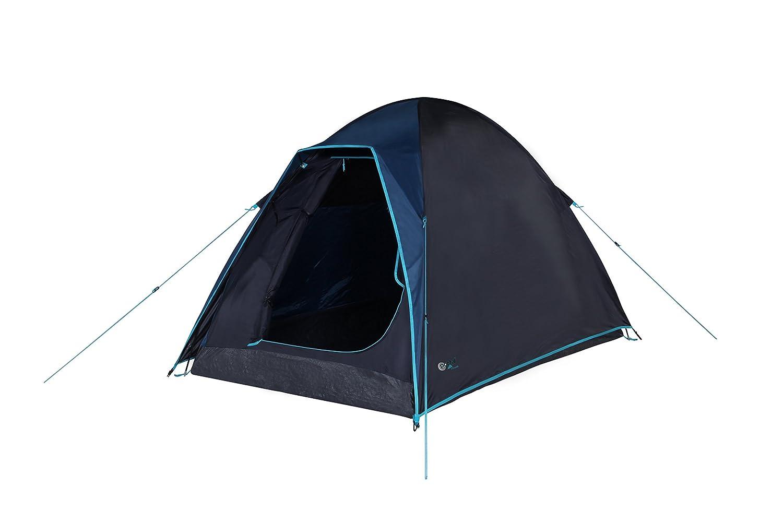 Portal Skye 2 - Campingzelt mit Schlafkabine für 2 Personen, Wasserdichtes Outdoor Kuppelzelt mit 2000 mm Wassersäule, Leichtes Zelt mit wettergeschütztem Eingang für Camping, Festival Oder Trekking