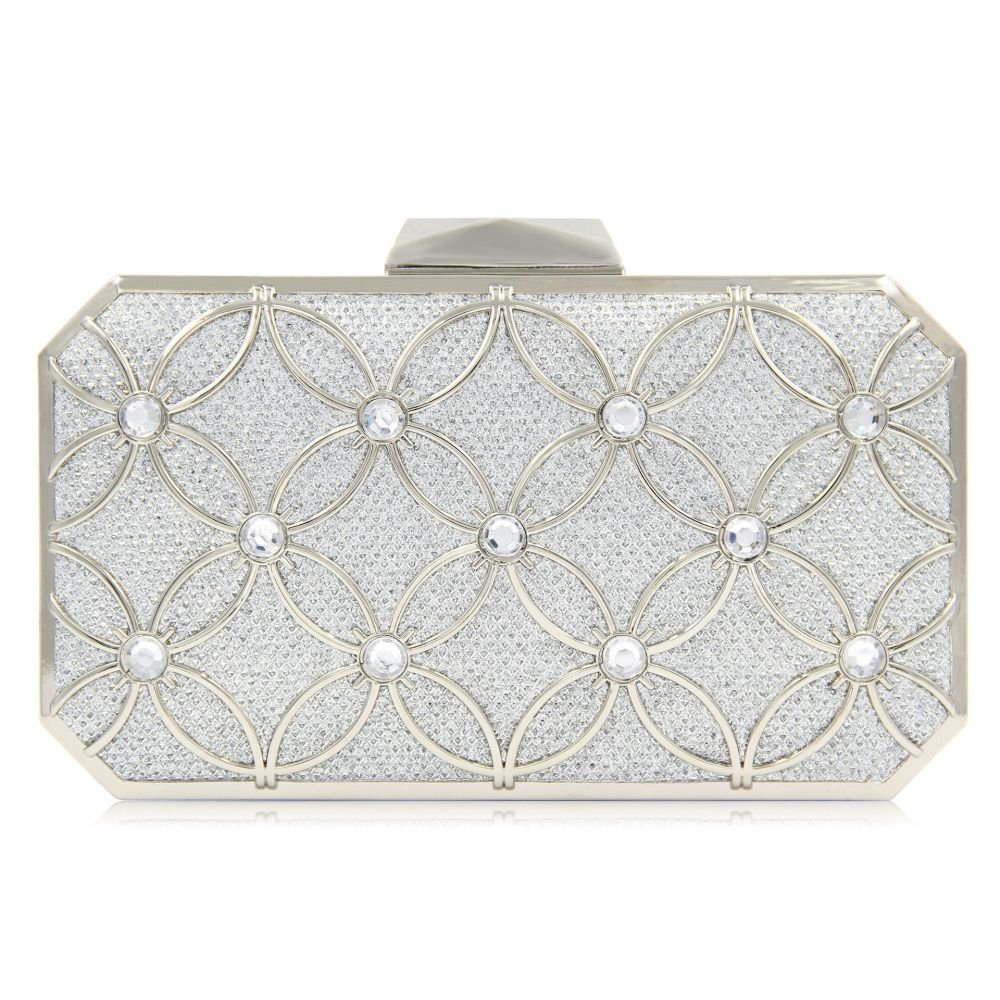 Bridal Glitter Metallic Evening Bags And Clutches For Women Floral Pattern Clutch Purses And Handbags With Crytals