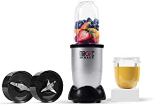 Magic Bullet 400 Watts, 6 Piece Set, Multi-Function High-Speed Blender, Mixer System with Nutrient Extractor, Smoothie Maker, Silver, 2 Years Warranty