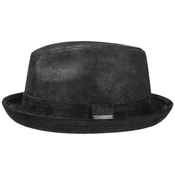 Stetson Radcliff Leather Player trilby hat  Amazon.co.uk  Clothing be8e7c7f8279