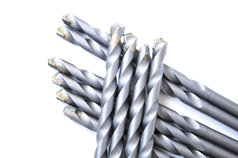 "10 Pcs 5//32/""X 3-1//2/"" Masonry Drill Bits Carbide Tipped Tapcon Half Flat Shank"
