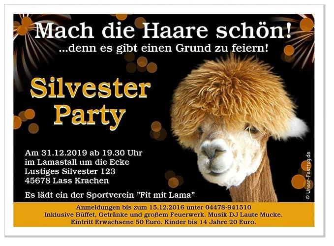 Einladung Silvester Party Mach Die Haare Schön Lustig Spaß 2017 2018