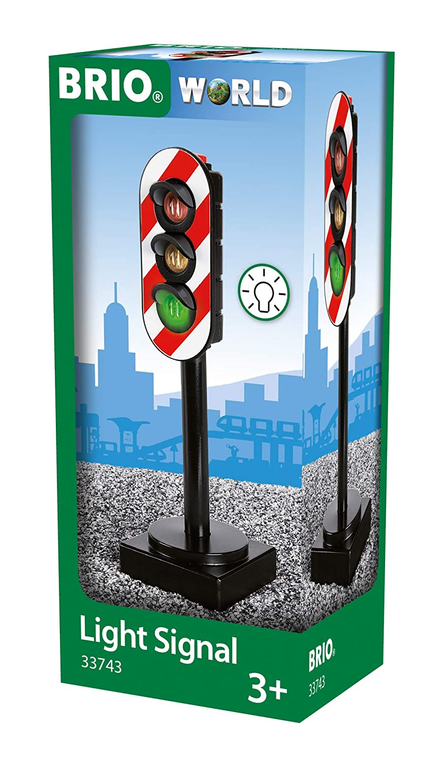 BRIO World - 33743 Light Signal | Toy Train Accessory for Kids Ages 3 and Up