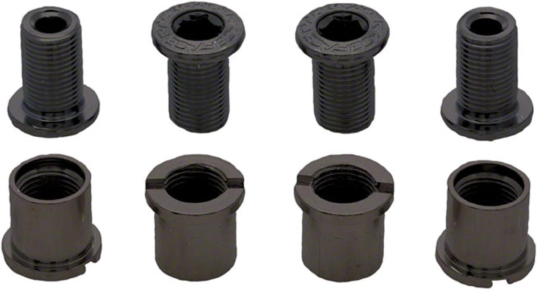 RaceFace Chainring Bolt Pack Set of 4 12.5mm Bolt//Nut Black
