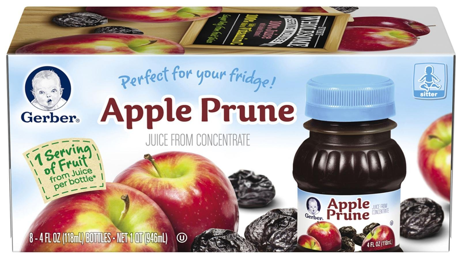 Amazon Com Gerber Variety Pack Fruit Juice 2 Apple 1