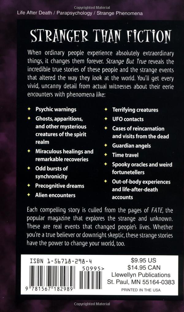 Amazon Com Strange But True From The Files Of Fate Magazine  Corrine Kenner Craig Miller Books