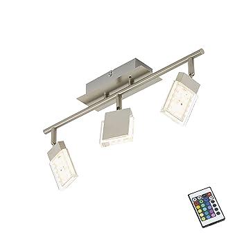 Briloner Leuchten LED Deckenstrahler Farbsteuerung Farbwechsel Mit Fernbedienung Dimmbar Deckenleuchte