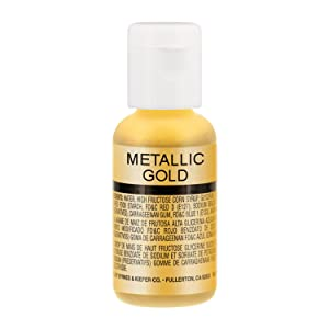 Chefmaster by US Cake Supply .7fl oz Metallic Gold Airbrush Food Coloring