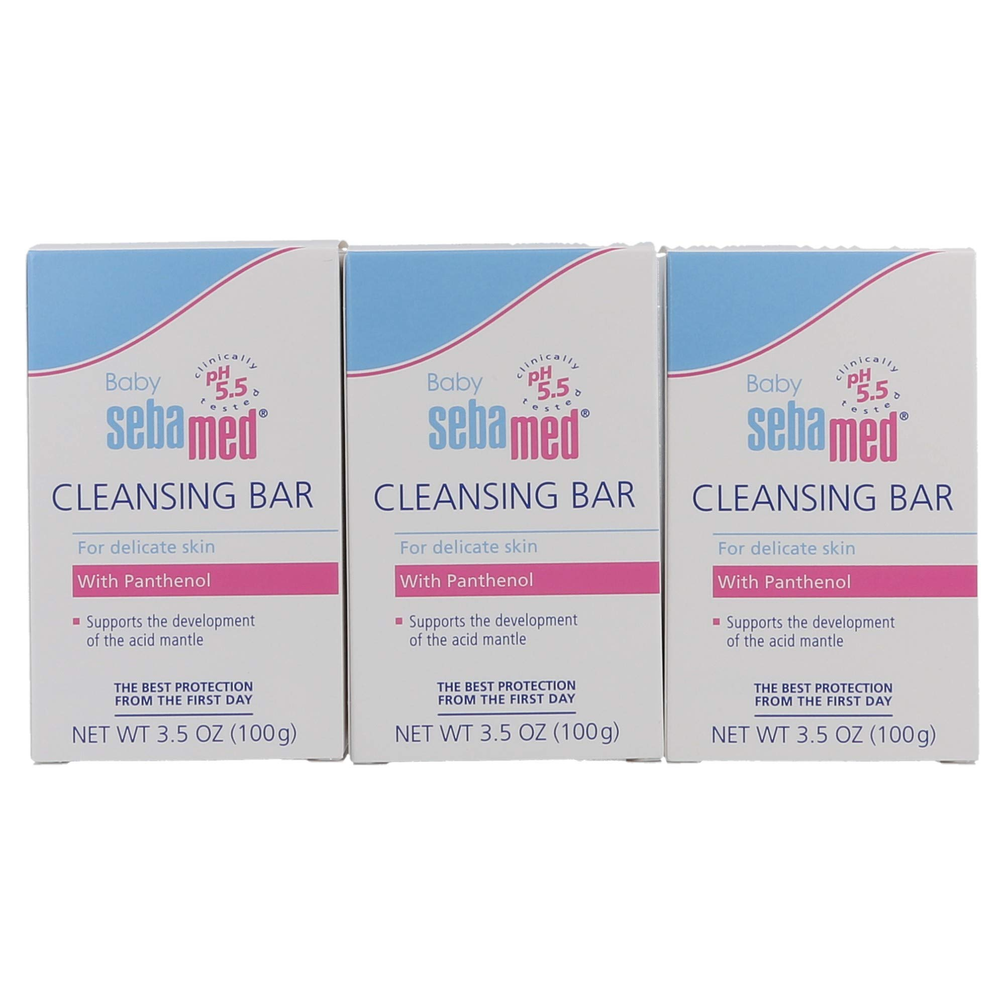 Sebamed Baby Ultra Mild Cleansing Bar - Hypoallergenic Non-irritating Cleanser with Vitamins and Amino Acids 3.5 Ounces (100g) (3) by SEBAMED