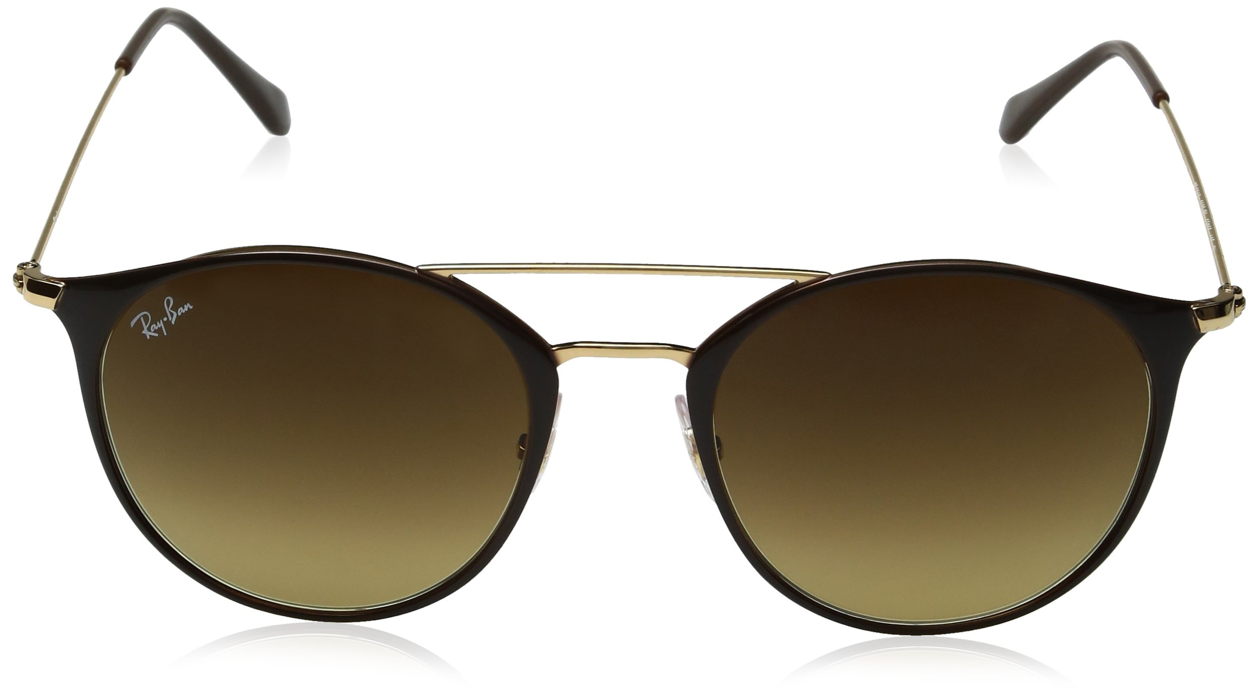 Ray-Ban Steel Unisex Round Sunglasses, Gold Top Brown, 52 mm by Ray-Ban (Image #2)