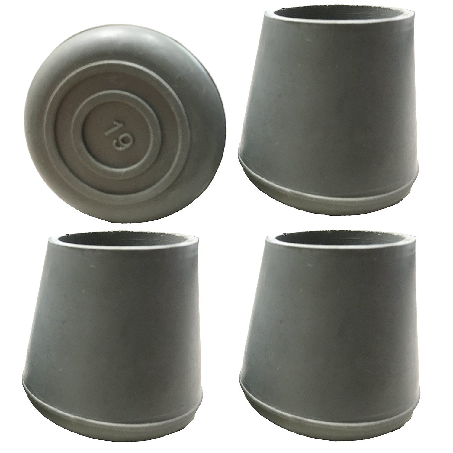 Pcp Replacement Walker/Commode Tips, Grey, 7/8 inch