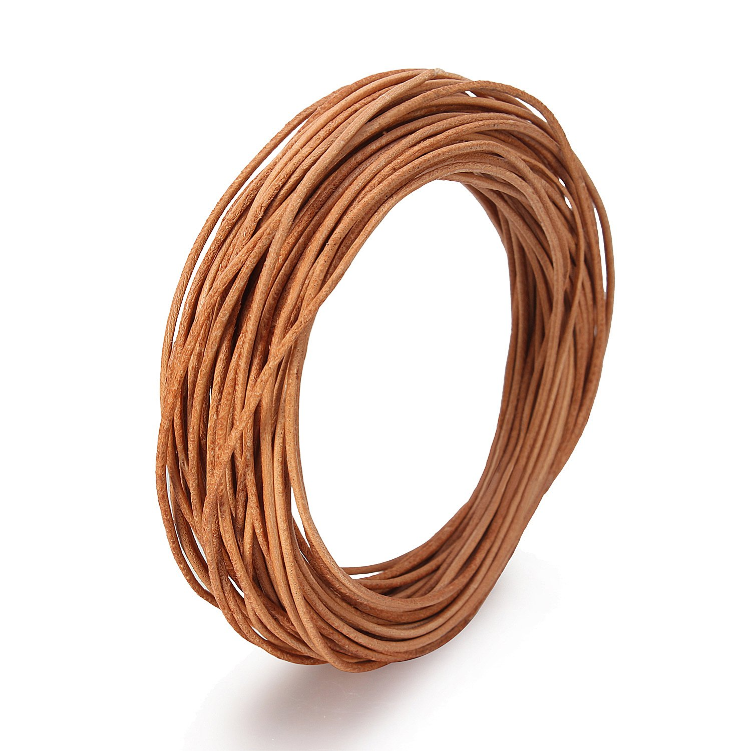 Dark Brown 10 Meters//11 Yards BEADNOVA 1.0mm Genuine Round Leather Cord Leather Strips For Jewelry Making Bracelet Necklace Beading