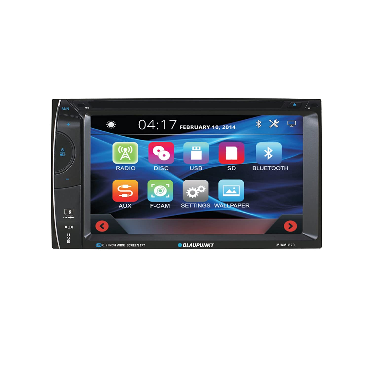 blaupunkt car audio double din 6 2 touchscreen lcd dvd cd. Black Bedroom Furniture Sets. Home Design Ideas