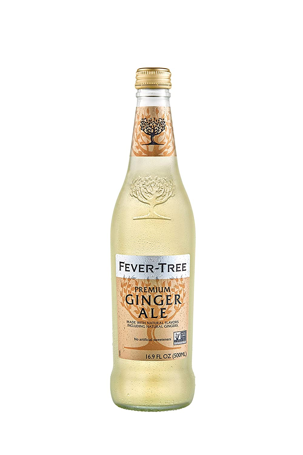 Fever-Tree Premium Ginger Ale Glass Bottles, No Artificial Sweeteners, Flavorings & Preservatives, 16.9 Fl Oz (Pack of 8)