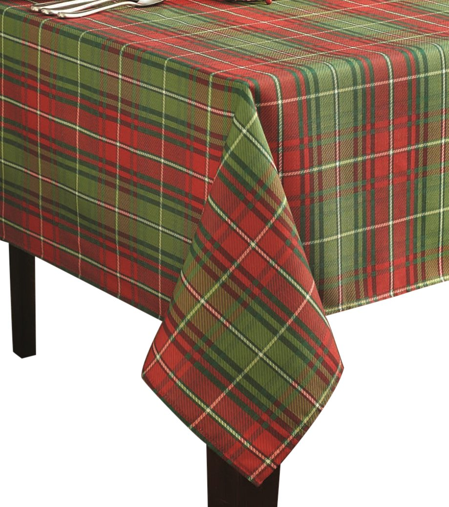 Amazon.com: Benson Mills Christmas Plaid Printed Tablecloth, 60 Inch By  104 Inch: Home U0026 Kitchen
