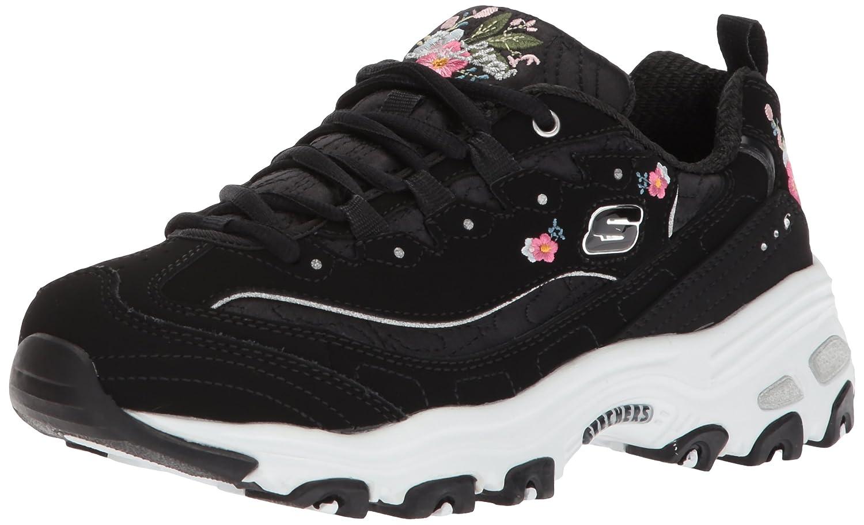Skechers Damen Sportschuhe D´Lite Bright Blossoms Weiß  41 EU Schwarz