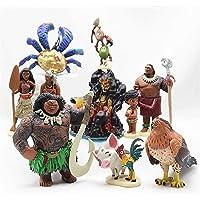 Odxlzc 10 stuks/set van Moana beweegbare poppen speelgoedkarakterverzameling: Moana Princess Vaiana Maui Chief Tui Tala…