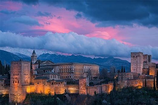 Alhambra España 3D Jigsaw Puzzle 1000 Piezas,Ensamblado De Madera Diy Ensamblaje De Rompecabezas Para Niños,Rompecabezas De Madera Regalo De Madera: Amazon.es: Hogar