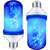 CPPSLEE Led Flame Effect Light Bulb, 4 Modes Flame Lights Bulbs, E26 Base Fire Light Bulbs with Gravity Sensor, Christmas Dec