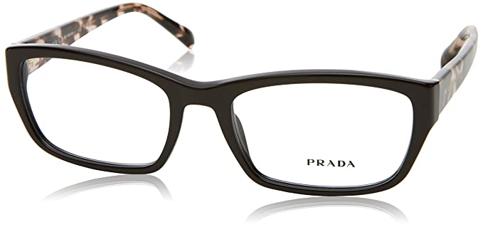 18547dc31c08 Amazon.com  Prada PR18OV-DHO1O1 Women s Eyeglass Frames Dark Brown ...