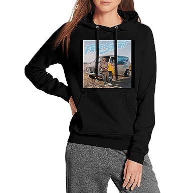 9bb9b3eccd9a6 Ina Fers Fleece Hoodies for Women Khalid-Free-Spirit-Photo- Soft Warm Heavy  Blend Athletic Pullover Hoodie Sweatshirt at Amazon Women's Clothing store: