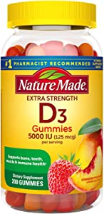 Nature Made Extra-Strength Vitamin D3 5000 IU (125 mcg) Gummies (200 ct.)