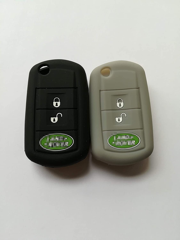 TCKEY New Protective Key Jacket Keyless Remote Key Case Skin Cover Key Protector Key Sleeve for LAND ROVER LR3 Range Rover Range Rover Sport