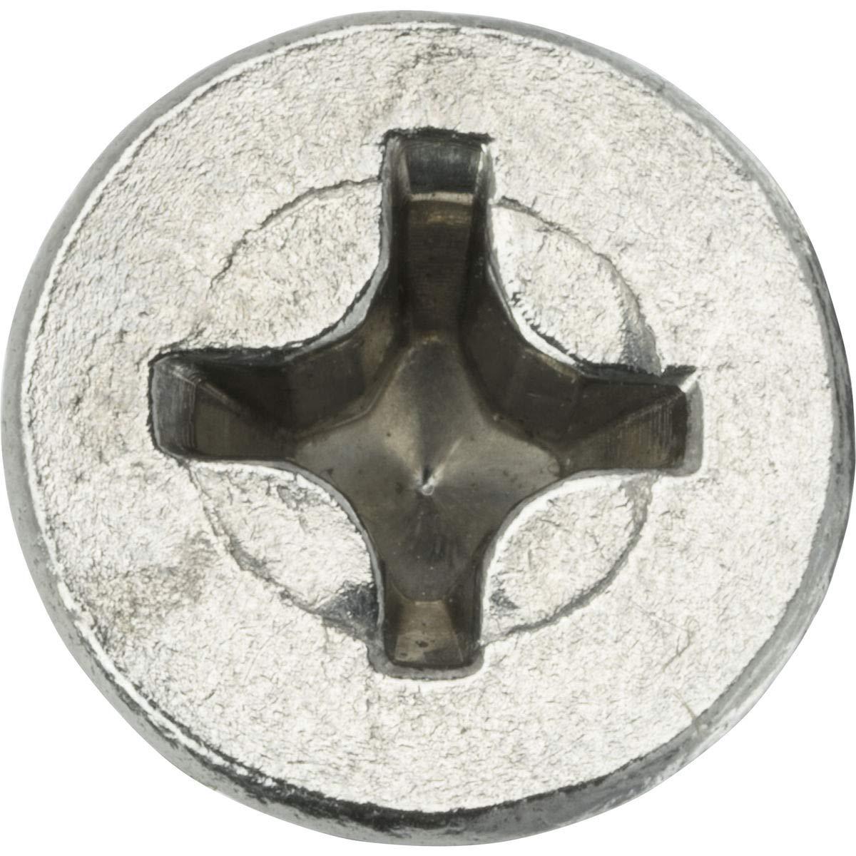10-24 x 3//8 Flat Head Machine Screws Phillips Drive Stainless Steel Qty 100