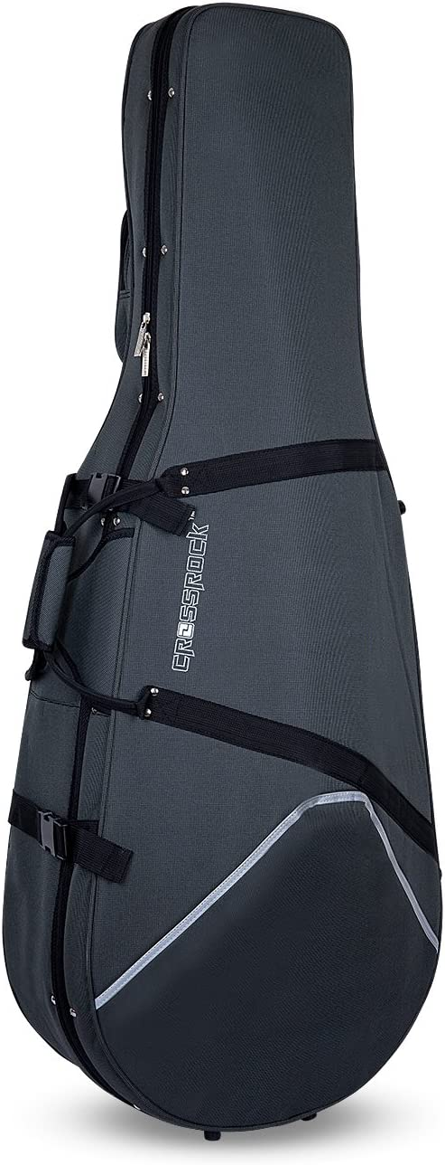 Crossrock Lightweight Cello Case With Dense Foam In Grey