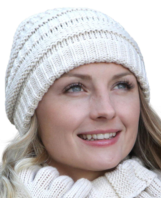 Composez votre ensemble hiver: /écharpe Assortiment de couleurs:Bonnet cr/ème bonnet et gants assortis Hilltop
