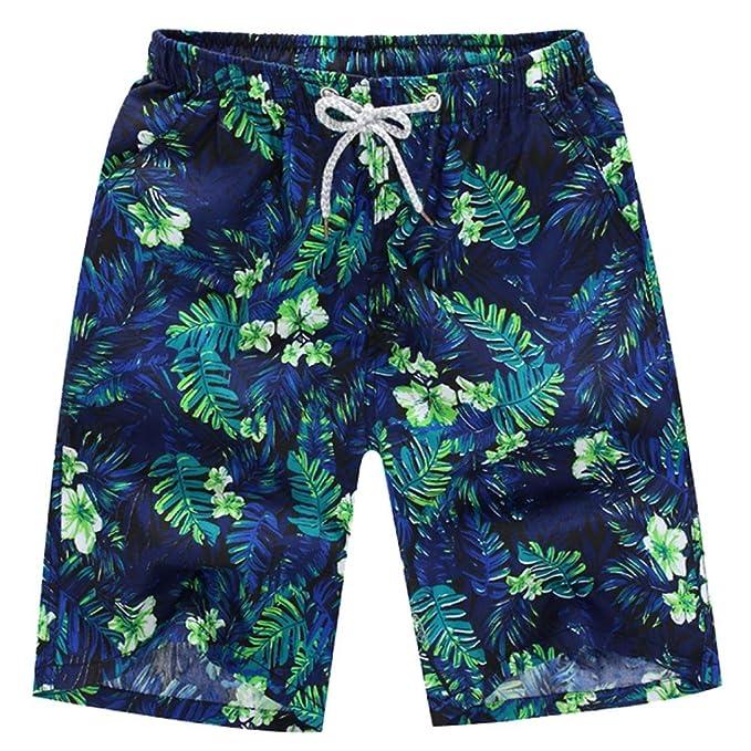 Pantalón para hombre,Longra ★ Pantalones cortos de baño para hombre Pantalones de agua para nadar de secado rápido en la playa (Verde, M)