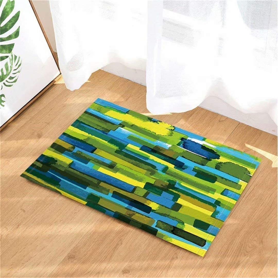 fgdgbvbn Rainbow alfombras de ba/ño Antideslizante Felpudo Piso de Entrada Puerta Delantera Interior Estera Mat Accesorios de ba/ño