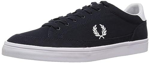 Fred Perry Deuce Hombre Zapatillas Navy: Amazon.es: Zapatos y complementos