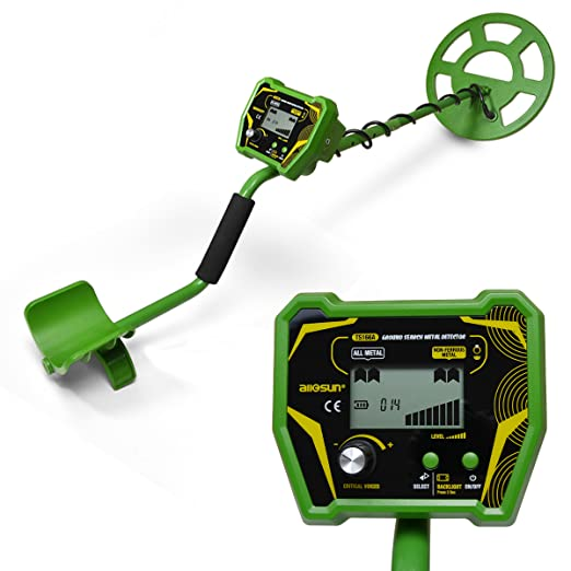 Amazon.com : allsun Ground Metal Detector Professional Treasure Hunter Search Coin LCD Display : Garden & Outdoor