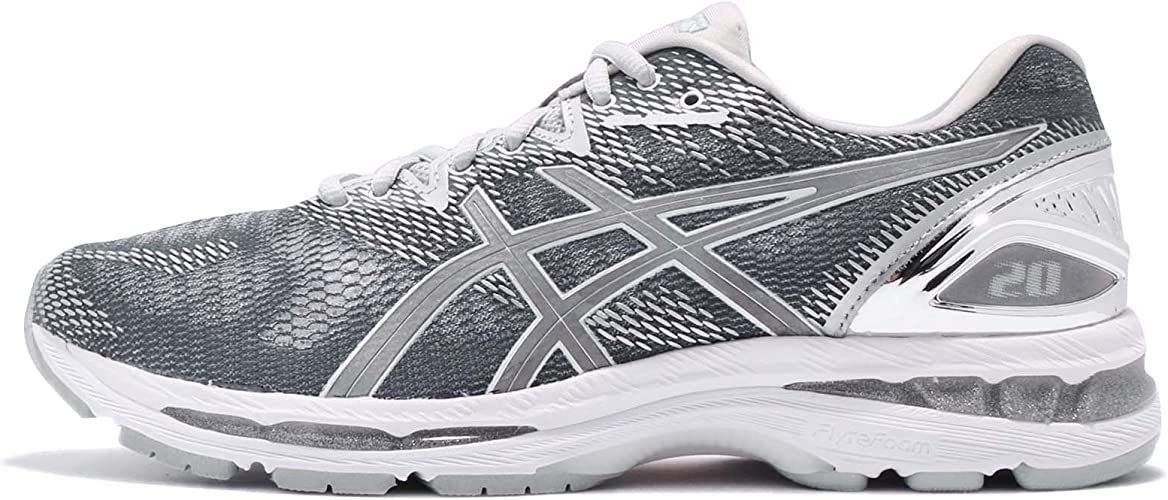 Portero vendedor deseable  ASICS Gel-Nimbus 20 Platinum Running Shoes - 12.5 Silver: Amazon.co.uk:  Sports & Outdoors
