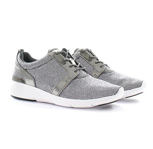 e56c84ab28b34 MICHAEL Michael Kors Women s Amanda Trainer Gunmetal Glitter Mesh Mirror  Metallic Sneaker 8 M  Amazon.ca  Shoes   Handbags