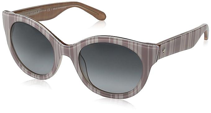 a55370f9ea Kate Spade Women s Melly s Cateye Sunglasses Beige Stripe White Gray  Gradient 53 mm