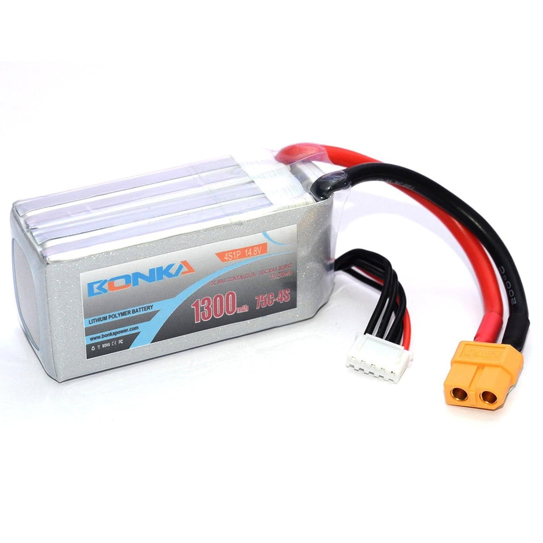 MadridGadgetStore® Batería Bonka 1300 mAh 75C 4S 14.8V Litio para ...