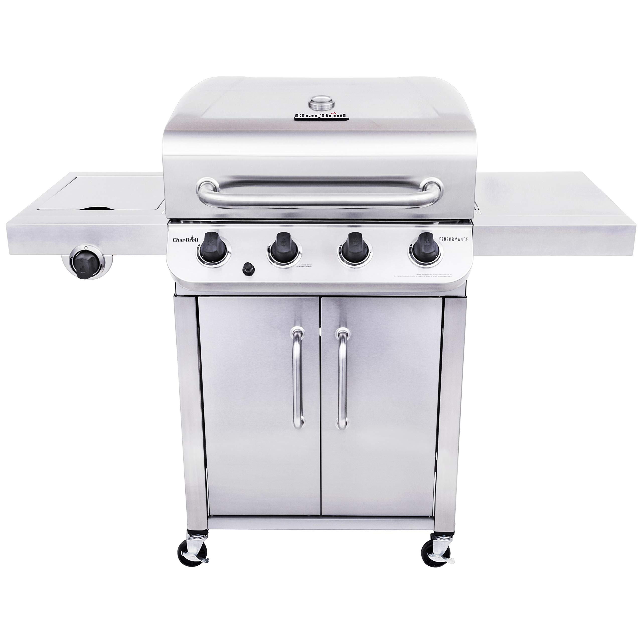 Char-Broil 463375919 Performance Stainless Steel 4-Burner Cabinet Style Gas Grill by Char-Broil