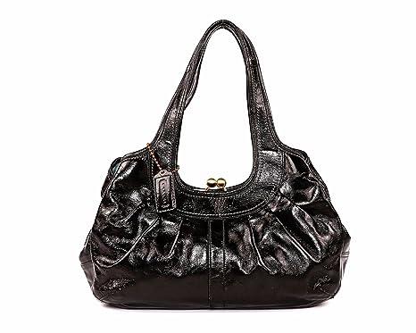 01b4d7404 ... shopping coach ergo black patent leather large satchel bag 12520 0f486  3dd57