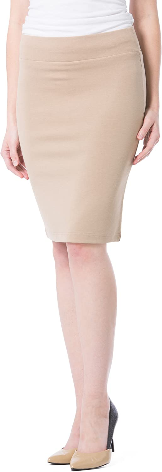 Fishers Finery Women's Ecofabric Ponte Las Vegas Mall Pull Max 63% OFF Pencil On Sk Stretch