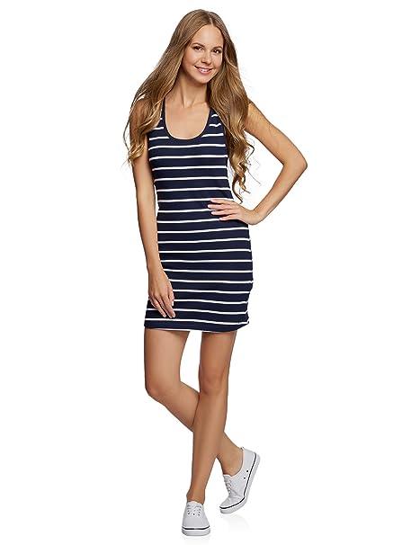 14bb2d3a0d93 oodji Ultra Damen Jersey-Kleid Gestreift