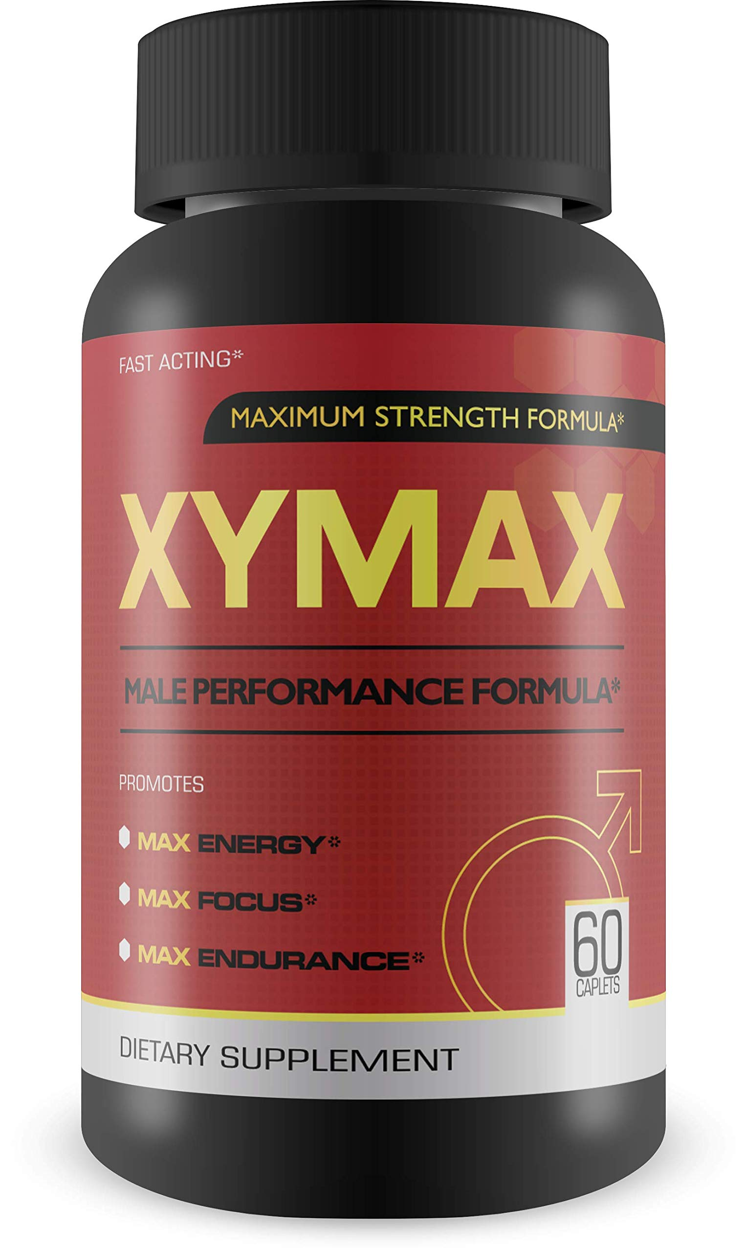 Xymax Male Performance Supplement- Maximum Strength Formula for Energy, Focus, Endurance 60 capsules