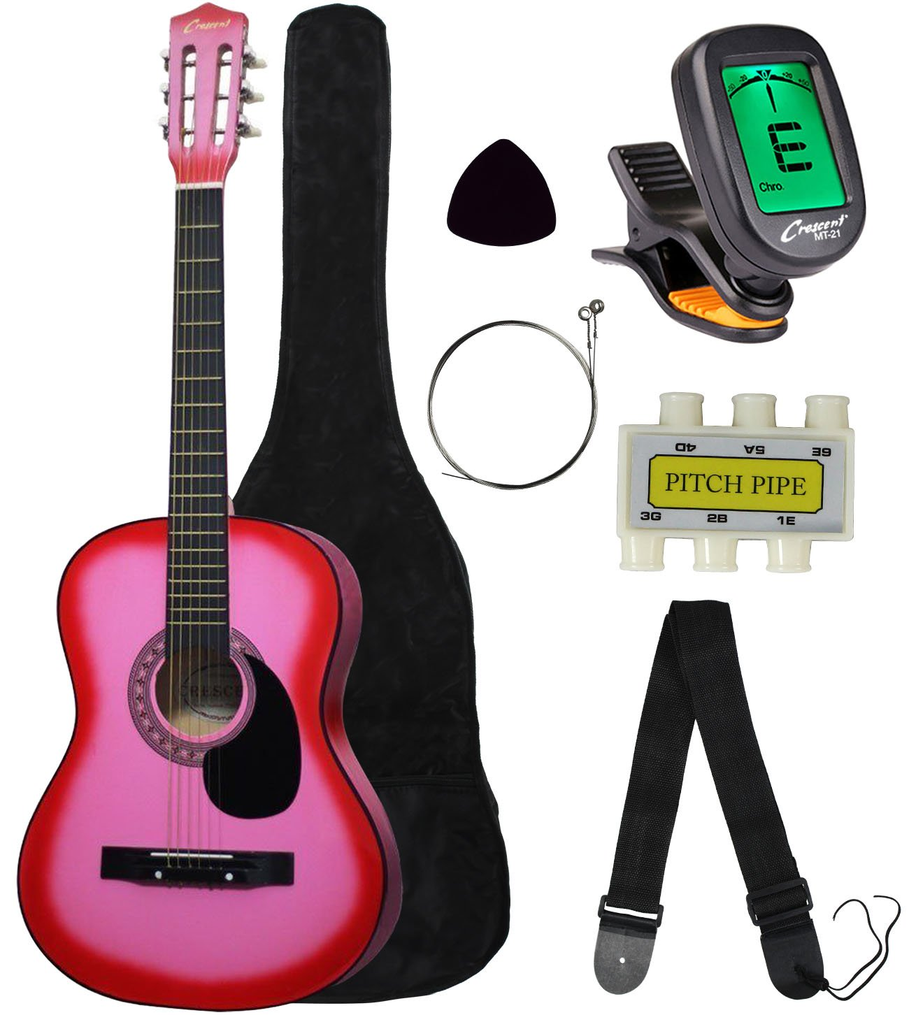 pink acoustic guitar for teen girls