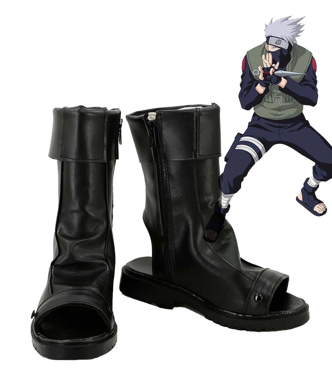 NARUTO Anime Hatake Kakashi Cosplay Shoes Boots Custom Made 12 D(M) US Male