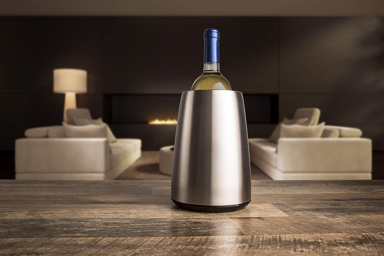 Vacu Vin Rapid Ice Elegant Wine Cooler - Stainless Steel 3049346 111750 Kühler Chills Drinks Fast Rapid Ice Vacuvin Presige cooler barware drinksware formal