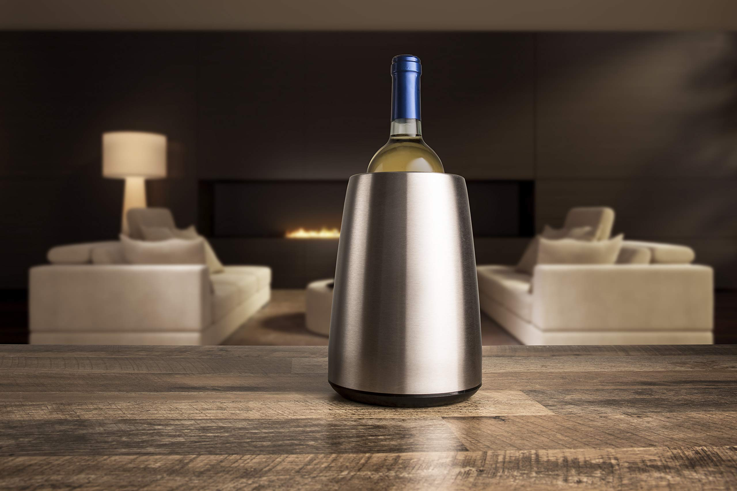 Vacu Vin Rapid Ice Elegant Wine Cooler - Stainless Steel