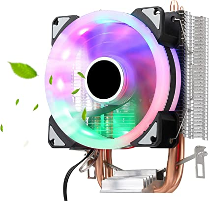 12V LED CPU Quiet Fan Cooler Quickly Heatsink  U Type Pipe For Core I7//i5//i3